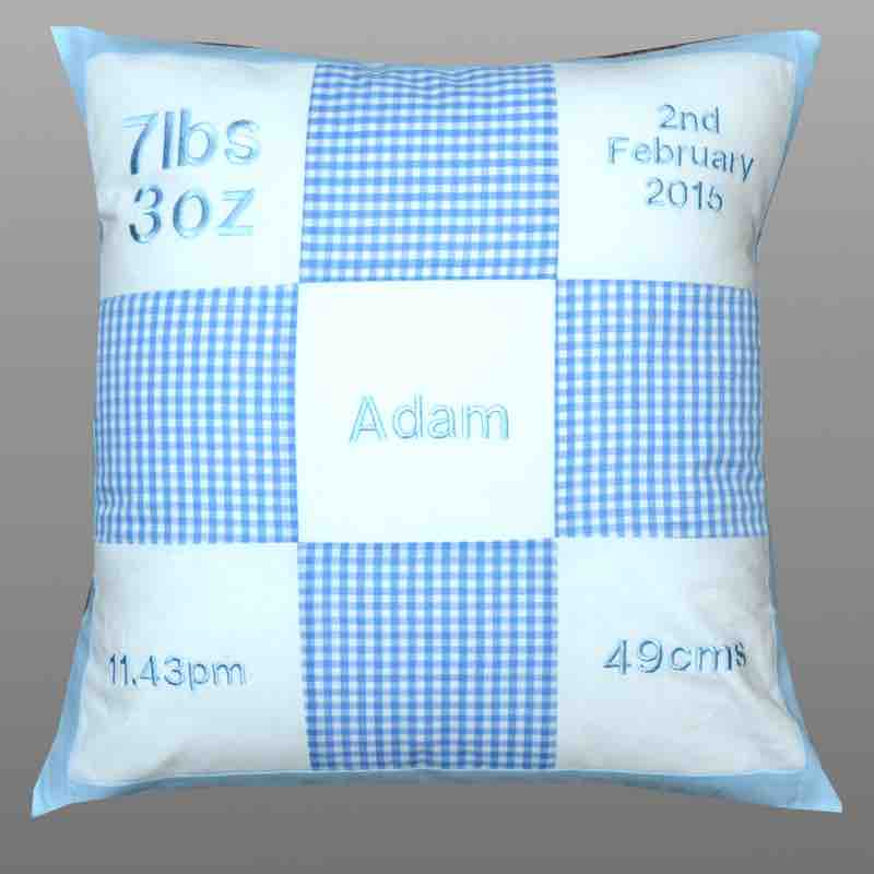 Personalised Cushion Baby Shower Gift Idea