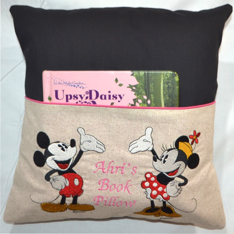 Personalised Cushion Kids Gift Idea  Mickey and Minnie Mouse Book Pillow